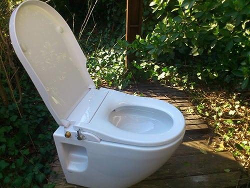 Mechanische douche wc