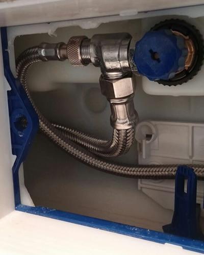 Installatie douchewc op Geberit UP320 inbouwreservoir