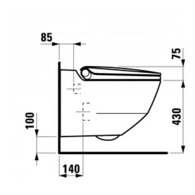 Laufen Cleanet Riva technische tekening