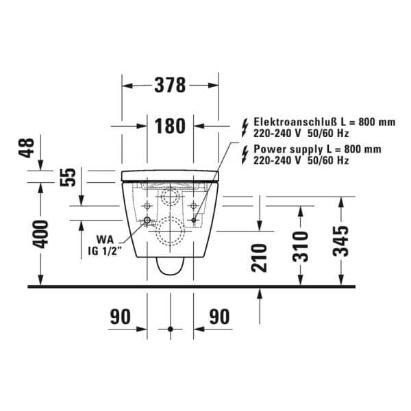 Duravit_Starck_F_technische_tekening_aansluitingen