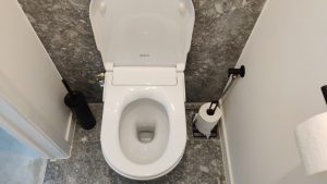 Installatie Stroomloze bidet toilet frissebips