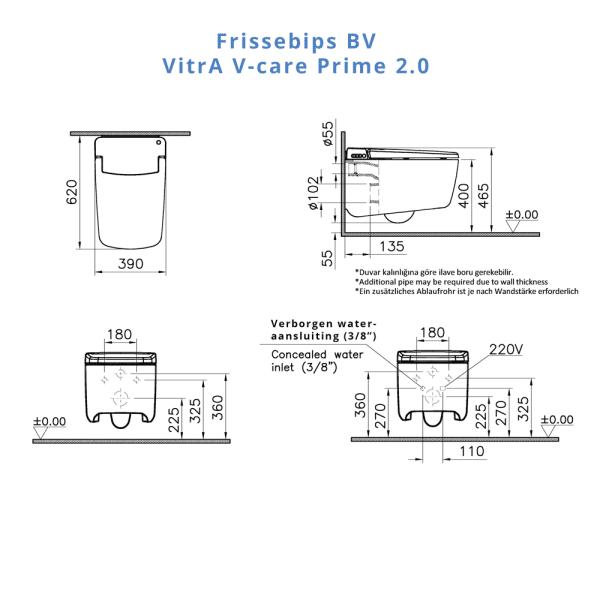 VitrA_V-care_prime_technisch_montage_tekening